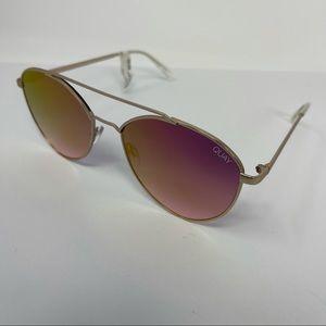 Quay Australia Dragonfly aviator sunglasses pink